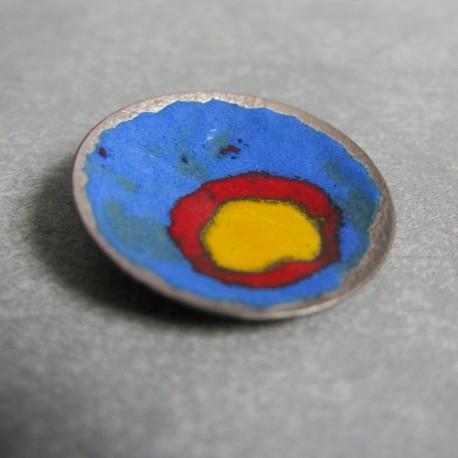 Broszka- srebro, emalia