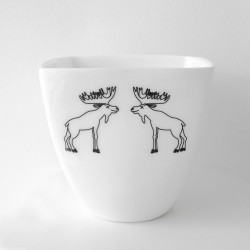 Kubek, porcelana- łosie