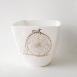 Kubek, porcelana- bicykl