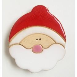 Magnes ceramiczny - głowa Mikołaja