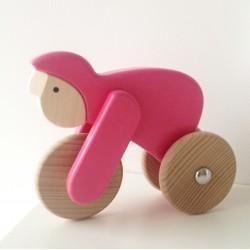 Rowerzysta- zabawka drewniana