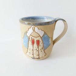 Kubek ceramiczny z aniołem