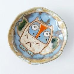 Mydelniczka ceramiczna z sową