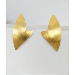 Kolczyki srebrne pozłacane