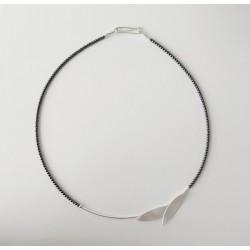 Naszyjnik srebrny z hematytem